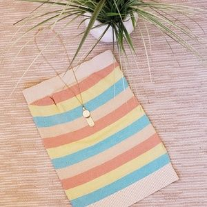 🧚 Sparkly Pastel Striped Tube Top 🧚♀️